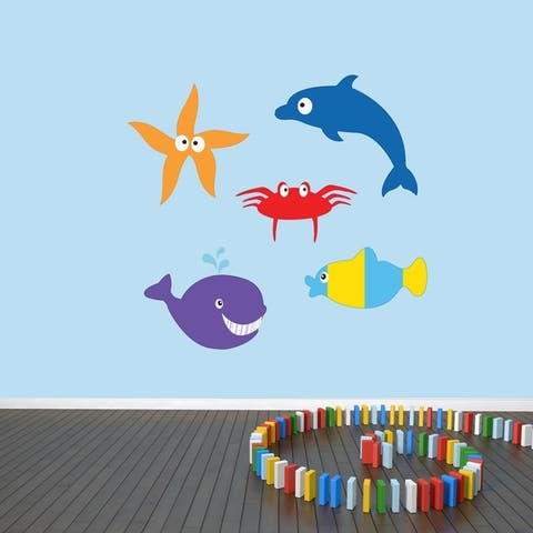 Sea Creatures Printed Wall Decal Pack