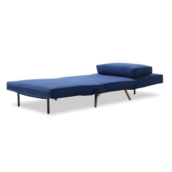 Swell Shop Jm Julius Royal Blue Microfiber Single Sofa Bed Free Cjindustries Chair Design For Home Cjindustriesco