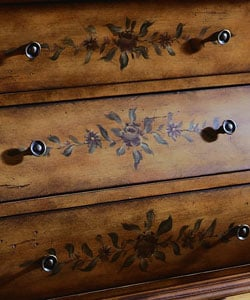 Hand-painted Chestnut Bombay Chest - Thumbnail 2