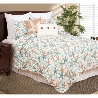 Stars of the Sea Coastal Microfiber Quilt Set