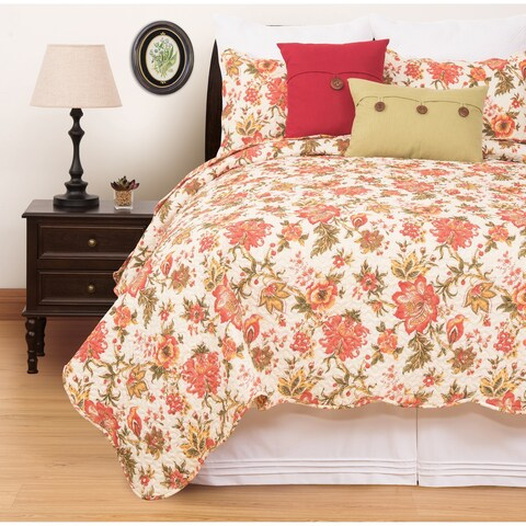 Ashley Floral Quilt Set
