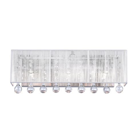 Silver Orchid Keaton Chrome 3-light Wall Sconce