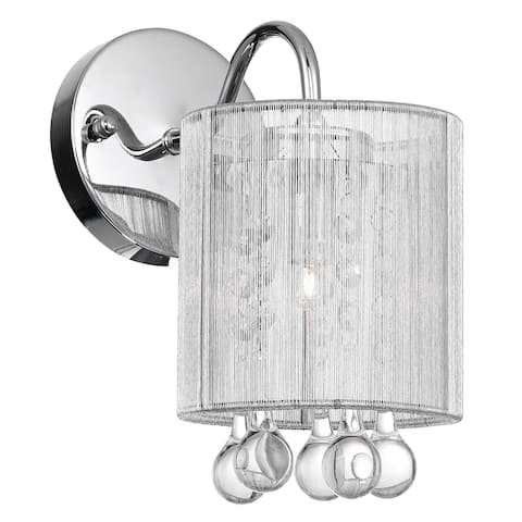 Silver Orchid Hardy Chrome 1-light Wall Sconce