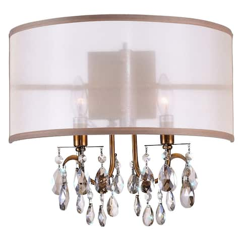 Gracewood Hollow Bonjawo 2-light Wall Sconce with Goldtone Finish