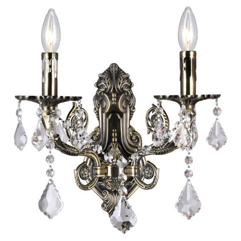 Copper Grove Manez 2-light Wall Sconce with Antique Brass Finish