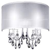 2 Light Wall Sconce with Chrome Finish