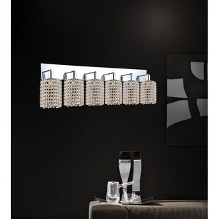 6 Light Wall Sconce with Chrome Finish