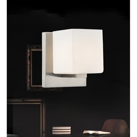 1 Light Wall Sconce with Satin Nickel Finish