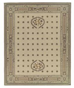 Nourison Hand-hooked Bijoux Beige Wool Runner Rug (2'6 x 8')