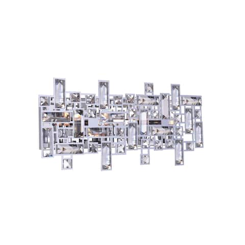 Silver Orchid Bunny 4-light Wall Sconce with Chrome Finish