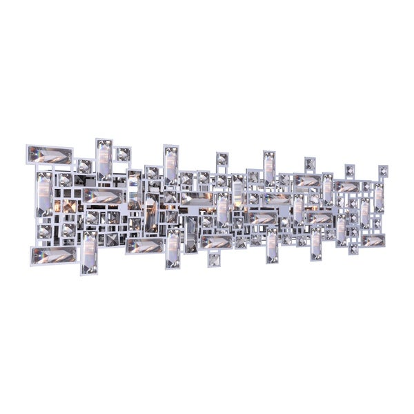 Silver Orchid Bunny 8-light Wall Sconce with Chrome Finish