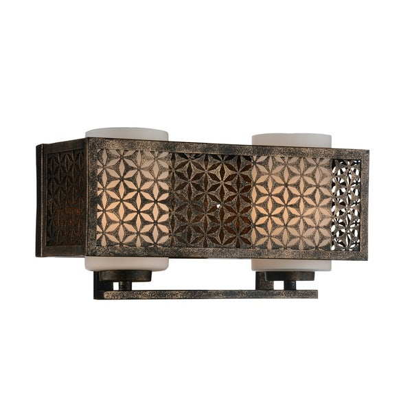 2 Light Wall Sconce with Golden Bronze Finish - Free Shipping Today ...