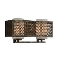 2 Light Wall Sconce with Golden Bronze Finish