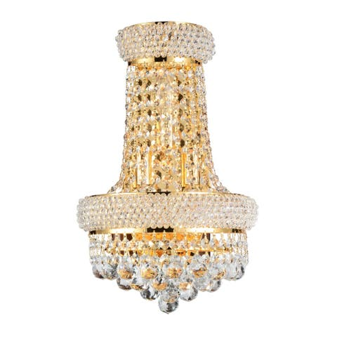 Gracewood Hollow Mbumua 3-light Wall Sconce with Goldtone Finish