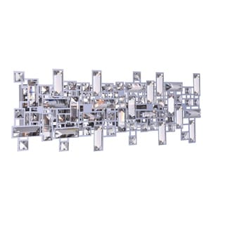 Silver Orchid Bunny 6-light Wall Sconce with Chrome Finish