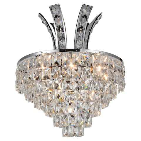 Gracewood Hollow Maimo 3-light Wall Sconce with Chrome Finish