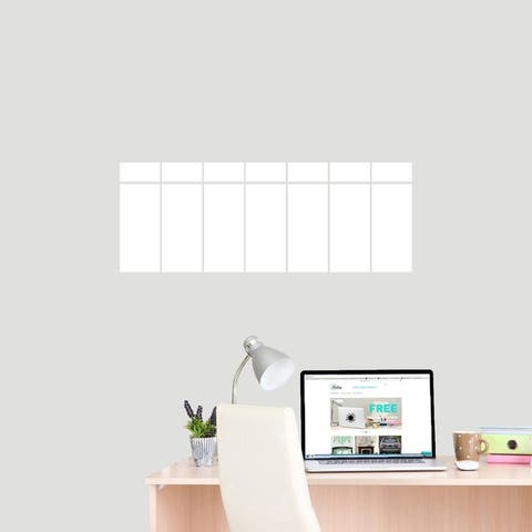 This Week Dry Erase Calendar Wall Decal