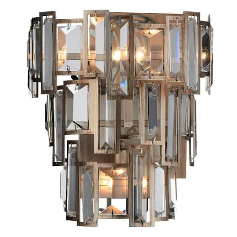 Gracewood Hollow Karone 3-light Wall Sconce with Champagne Finish