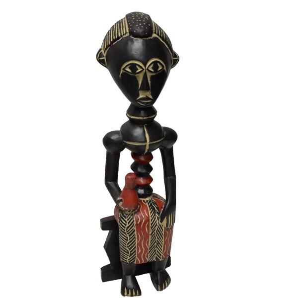 Handmade Royal Queenmother Sculpture (Ghana)