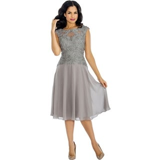Annabelle Women's Silver Casual Party Dress