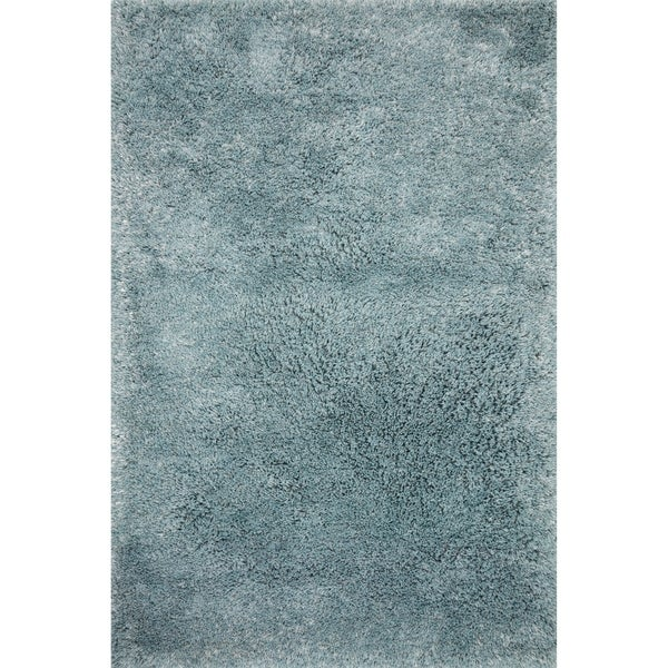 shop hand tufted contemporary solid light blue shag area rug 2 39 3 x 3 39 9 on sale free. Black Bedroom Furniture Sets. Home Design Ideas
