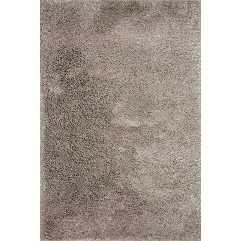 Hand-tufted Contemporary Solid Taupe Shag Area Rug - 2'3 x 3'9