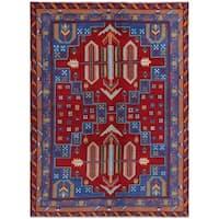 Handmade Herat Oriental Afghan Hand-knotted Kargahi Wool Rug (5'8 x 8') - 5'8 x 8'