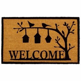 Storm Stopper Bird House Welcome 18x28 in. Indoor/Outdoor Coir Mat