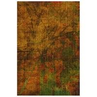 Fractured Outdoor Rust/Yellow Area Rug - 7' 10 x 9' 10