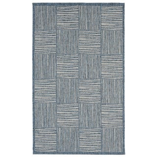 Liora Manne Lines In Boxes Outdoor Rug (1'11 x 7'6) - 1'11 x 7'6
