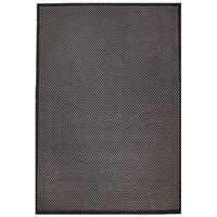 Black/Grey Wilton-woven Outdoor Area Rug - 4'10 x 7'6