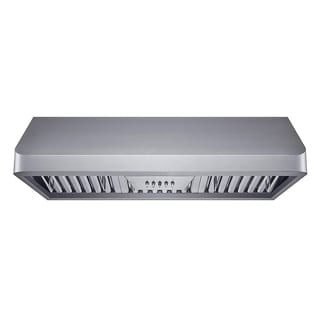 Winflo 36 in. Ductecd Stainless Steel Under Cabinet Range Hood with Baffle Filters, LED lights and 3 Speed Push Buttons