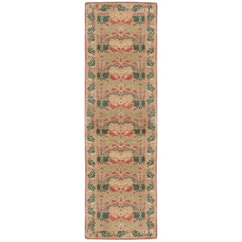 Wool Arts and Crafts Rug - 3'2'' x 15'