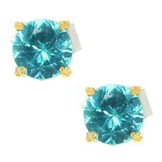 Michael Valitutti Palladium Silver Green Apatite Stud Earrings