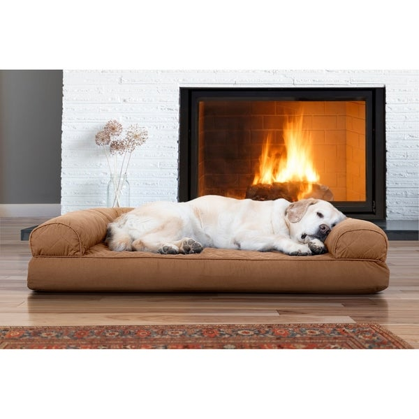 Shop Furhaven Quilted Cooling Gel Top Sofa Pet Bed On