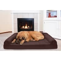 FurHaven Quilted Cooling Gel Top Sofa Pet Bed