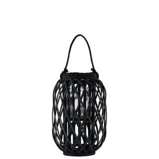 UTC55038: Bamboo Round  Lantern Coated Finish Black
