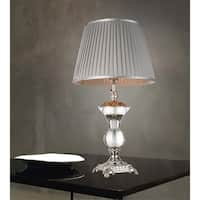 1 Light Table Lamp with Silver Finish