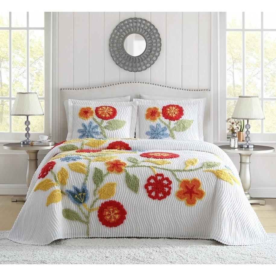 All Sizes Floral Indian Summer Blossom Garden Bedding Covers Duvet Set Stripe