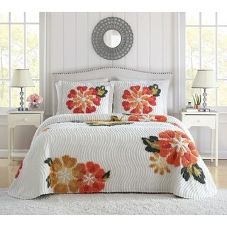 Autumn Chenille 3 Piece Bedspread Set