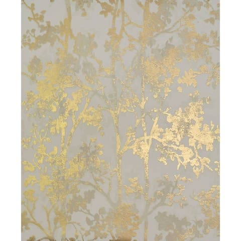 Cooper Shimmering Foliage Wallpaper 20.8 In x 32.8 Ft - 20.8 In. x 32.8 Ft. = 56.9 Sq. Ft.