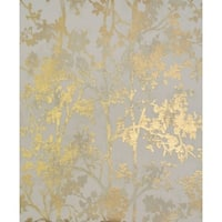 Cooper Shimmering Foliage Wallpaper 20.8 In. x 32.8 Ft. = 56.9 Sq. Ft.