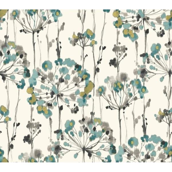 Edgewater Flourish Wallpaper 27 In. x 27 Ft. = 60.75 Sq.Ft