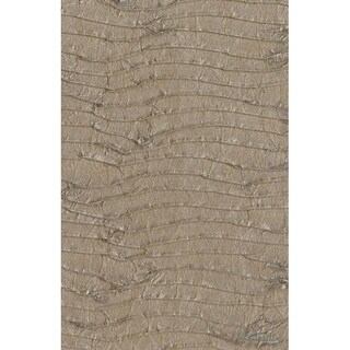 Cocoa Pleated Paper Wallpaper 36 In. x 24 Ft. = 72 Sq. Ft.