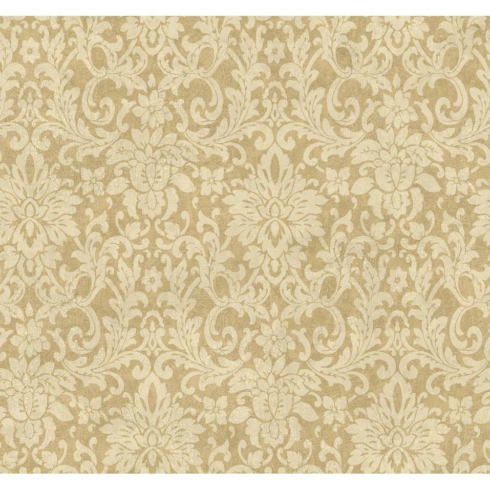 Shop Palmetto Floral Damask Wallpaper 27 In X 27 Ft 60 75 Sq