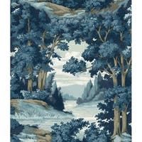 Biscayne Forest Lake Scenic Wallpaper 20.5 In. x 33 Ft. = 56 Sq.Ft