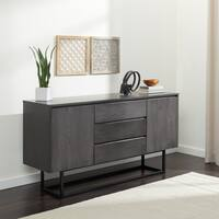 Stone and Stripes Taylor 2-door 3-drawer Charcoal Box Buffet