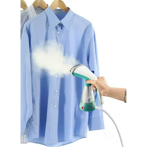 True & Tidy Hand Held Clothes Steamer w/Stainless Steel Nozzle, Teal