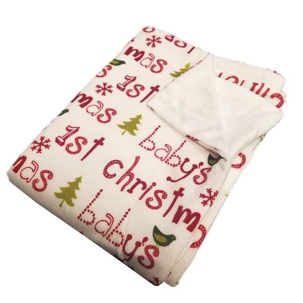 BOON Christmas Baby Microplush Blanket