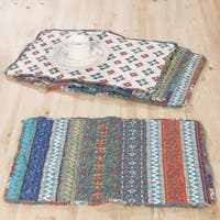 Barefoot Bungalow Brooklyn Reversible 4-Piece Quilted Placemat Set